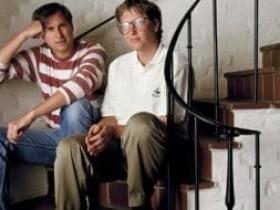 比尔盖茨与乔布斯:是宿敌也是知己